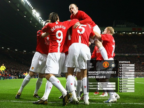 Manchester United 2 Inter Milan 0 Mar 11th 2009