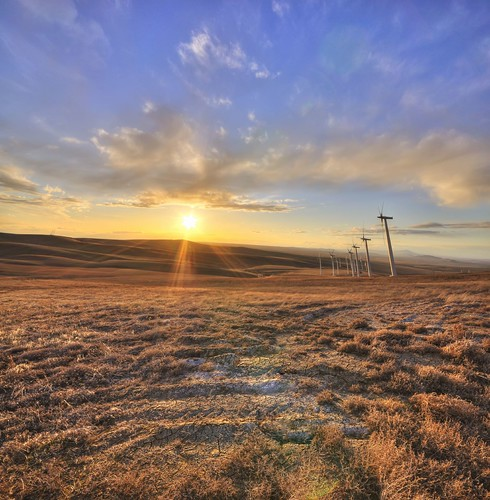 sunset washington desert state wind farm hill wa hillside turbine hdr kennewick nikond90 jumoffjoe