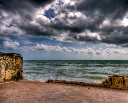 ocean sky water rock clouds geotagged waves texas corpuschristi ledge 1020 hdr lightroom sigma1020 geo:lat=27786939 geo:lon=9739236