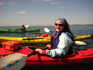Kayaking on Lake Superior