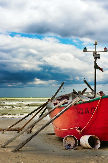 Seascape Italy Senigallia Alone Boat