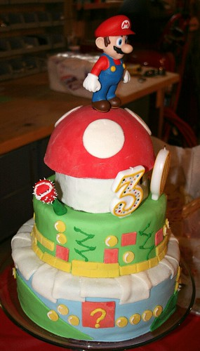 FostersFrostings Super Mario Bros 3 Tier Cake