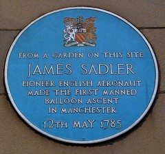 Photo of James Sadler blue plaque