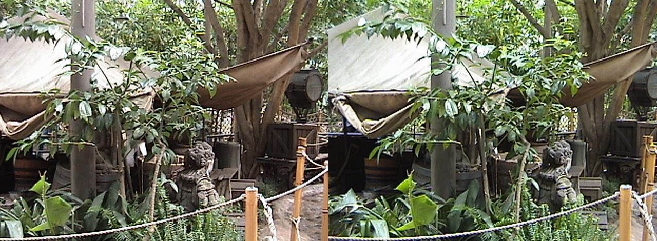 3D, Hidden Walt, Command Tent, Camp, Indiana Jones™ Adventure, The Temple of the Forbidden Eye, Adventureland, Disneyland®, Anaheim, California, 2009.02.23 13:18