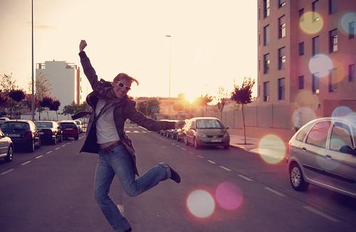 street sunset portrait me girl self happy jump bokeh good 365