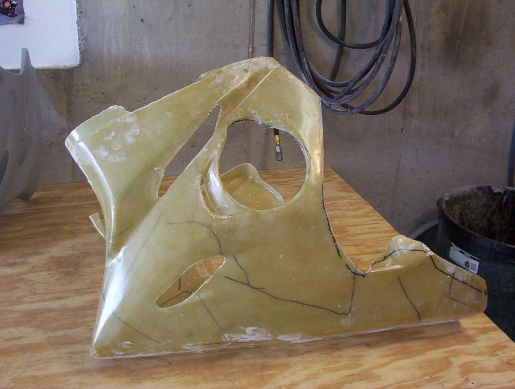 I built my own set of motorcycle racing fairings how to for How is fiberglass made