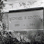 Michael S. Livoda 1886-1984 granite headstone at The Ludlow Massacre Memorial site in Colorado