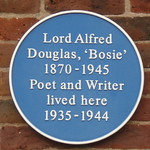 Photo of Alfred Douglas blue plaque