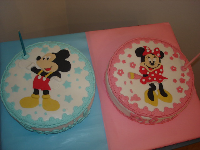 Torta para mellizos.Mickey y Minnie | Flickr - Photo Sharing!