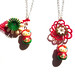 Hello Kitty Matryoshka & Vintage Flower Charm Necklace by Kitsch-tique