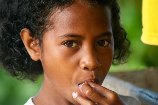 Portrait of a girl in Irian Jaya, West Papua.