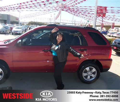 Happy Anniversary to Joan Davis on your 2009 #Kia #Sportage from Landry Boris and everyone at Westside Kia! #Anniversary by Westside KIA