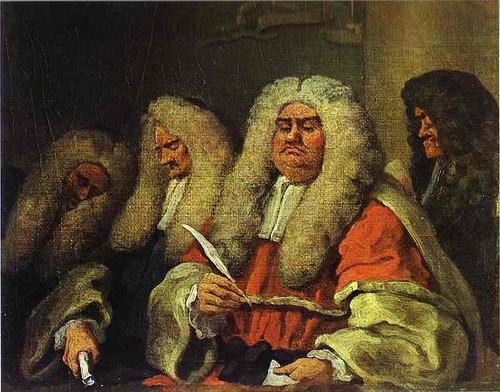 Hogarth, William (1697-1764) - 1758c. The Bench