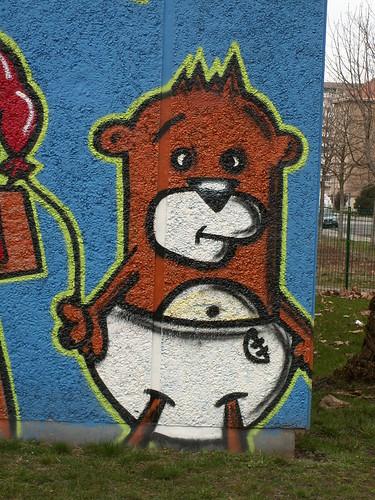Ein Bär hatte lange nichts gegessen und wollte Wolf, Mensch und Club Eule fressen denn das schmeckte sehr 212