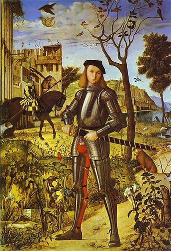 Carpaccio, Vittore (1460-1525) - 1510 Young Knight (Thyssen-Bornemisza Collection, Madrid)