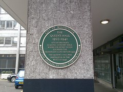 Photo of Henry Wood, Queen's Hall, London, and The Promenade Concerts green plaque