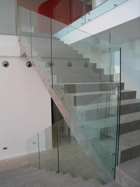 Barandillas de cristal vidreglass - Escaleras con barandilla de cristal ...