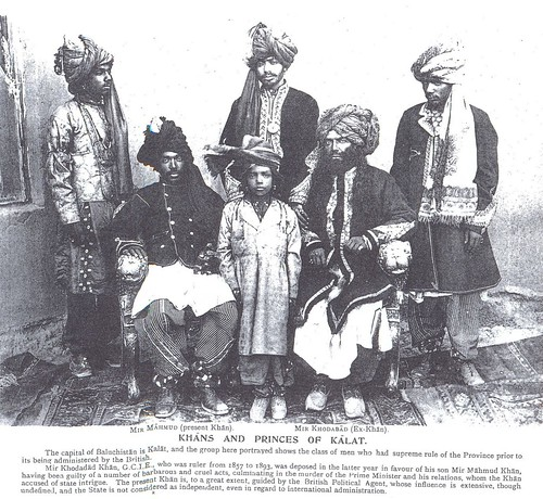 KHAN OF KALAT MIR KHUDADAD KHAN WITH HIS SONS (LATE 1880'S)