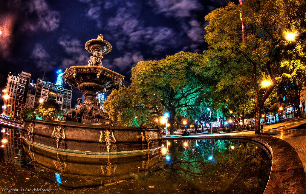 A late night walk to the hotel in Buenos Aires by MDSimages.com