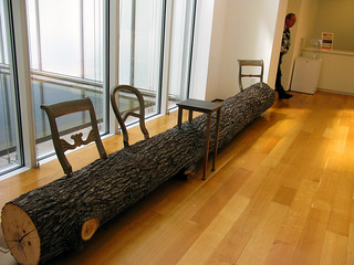 cool bench inside the museum