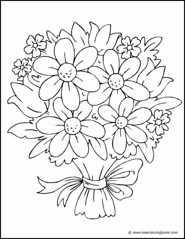 Bouquet of Flowers - Coloring Page