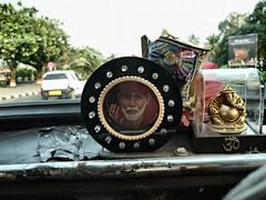 """Dashboard shrine - """"Shirdi"""" Sai Baba + Ganesh"""