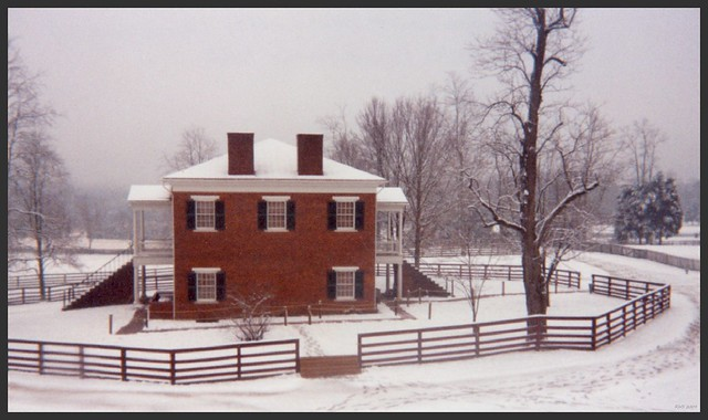 Appomattox Court House in Snow