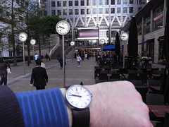 Clocks and watches @ Canary Wharf