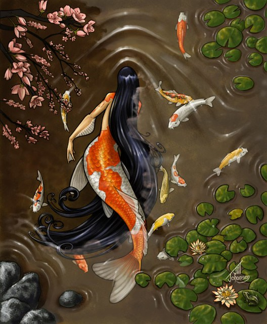 Koi mermaid flickr photo sharing for Koi fish tail