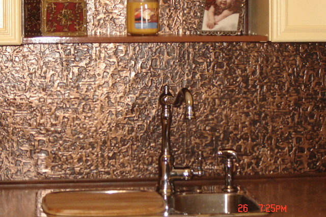 Faux Tin Kitchen Backsplash Roll