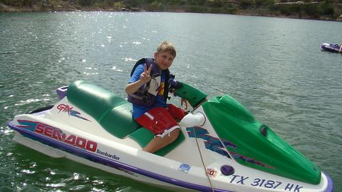 camping lake water pointing jetski graham klobe lakealanhenry