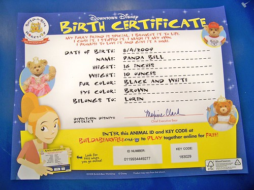 Flickriver castles capes clones39s photos tagged with buildabear for Build a bear birth certificates