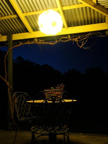 Orbital light above table