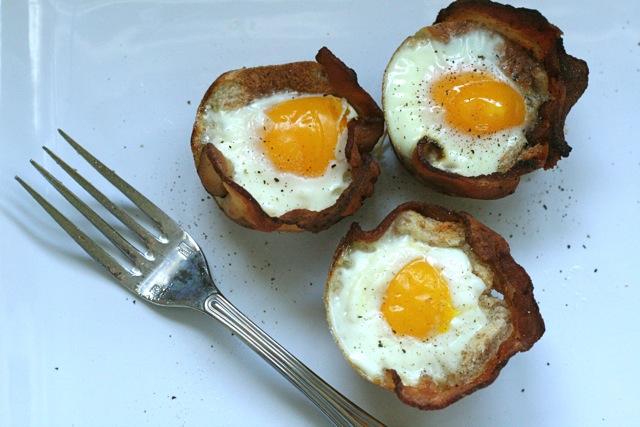 Bacon, Egg and Toast Cups | Annie's Eats