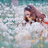 Girl in field of dandelions by petukhov.anton