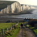 Winter Sunshine on the Seven Sisters