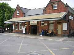 "Train Chartering - Westbury Station, England renamed Macclesfield for Elijah Wood movie ""Green Street Hooligans"""