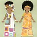 african girls paper dolls