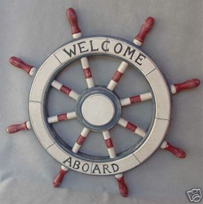 Painted Wooden Ships Wheel 23'' - Nautical Decor | Flickr - Photo