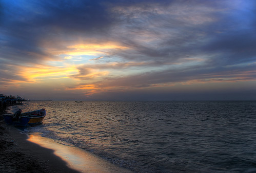 Colorful sunset! Caspian sea, Babolsar, north of Iran (HDR)     (Explored)