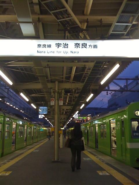 JR 京都駅:奈良線ホーム