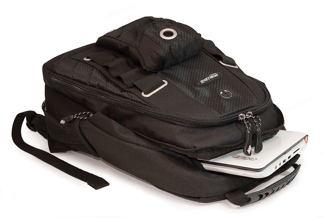 Mobile Edge Netbook Backpack layed flat