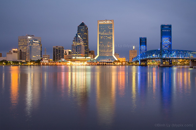 jacksonville skyline winter 2008