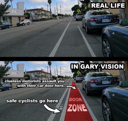Bike Lane In Gary Vision