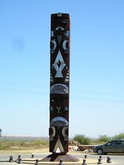 obelisk(0.0), outdoor structure(0.0), sculpture(0.0), monolith(0.0), statue(0.0), totem pole(1.0), art(1.0), landmark(1.0), monument(1.0), totem(1.0), tower(1.0),