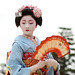 japan / fan / dance / beautiful / photo / pretty / blue / geisha