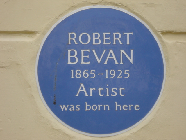 Photo of Robert Bevan blue plaque