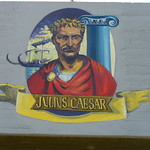 Julius Caesar - Wall painting in Acre, Israel