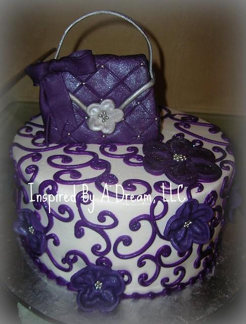 Purple Teal Birthday Cake Pretty
