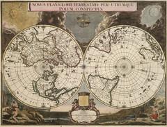Novus Planiglobii Terrestris per Utrumque Polum Conspectus